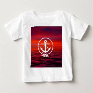 Beautiful Anchor rope Sunrise colourful Cloud Baby T-Shirt