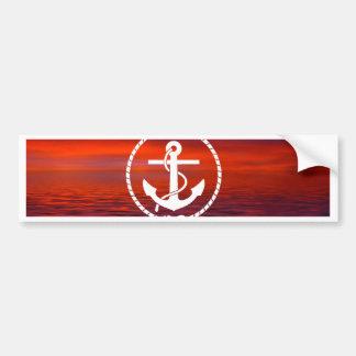 Beautiful Anchor rope Sunrise colourful Cloud Bumper Sticker
