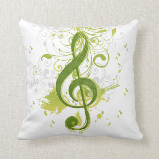 Beautiful and cool music notes with splatter cushion