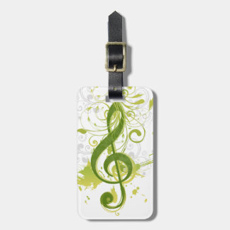 Beautiful and cool music notes with splatter luggage tag