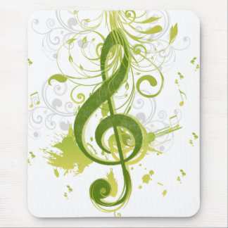 Beautiful and cool music notes with splatter mouse mat