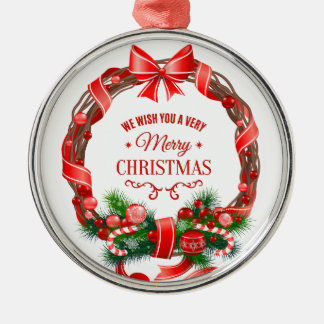 Beautiful and Elegant Christmas Wreath Ornament