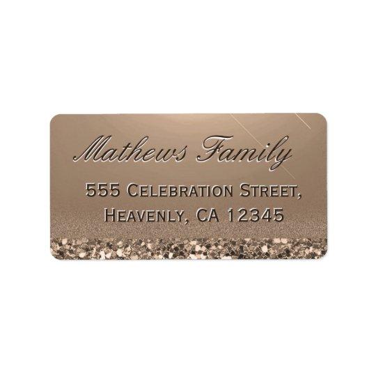 Beautiful and Elegant Gold Glitter Address Label