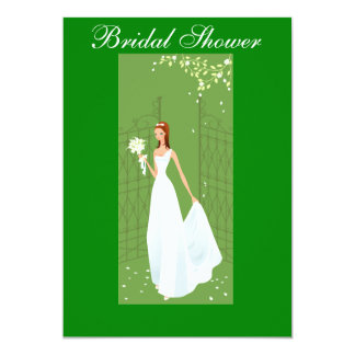 Beautiful and Green Bridal Shower Invitation