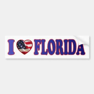Beautiful and Patriotic I Heart Florida - Sticker Bumper Sticker