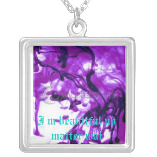 Beautiful and purple square necklace