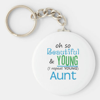 Beautiful and Young Aunt Key Chains