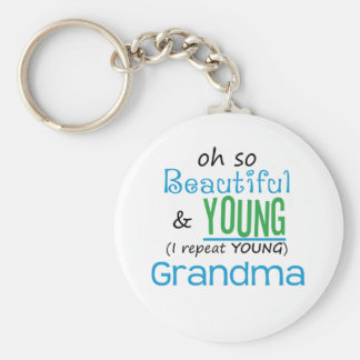Beautiful and Young Grandma Key Chains