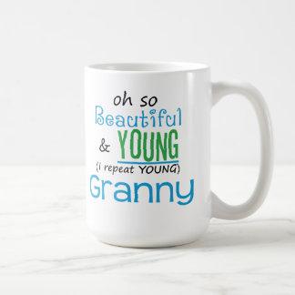 Beautiful and Young Granny Coffee Mug