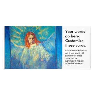Beautiful Angel art glorious painting by Van Gogh Personalized Photo Card