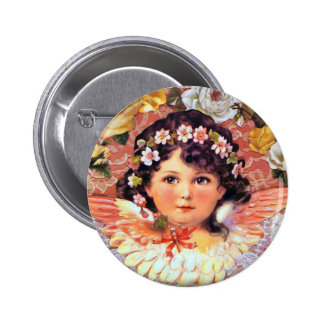Beautiful Angel Child 6 Cm Round Badge