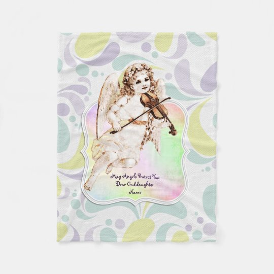 Beautiful Angel Goddaughter Gifts Personalised Fleece Blanket