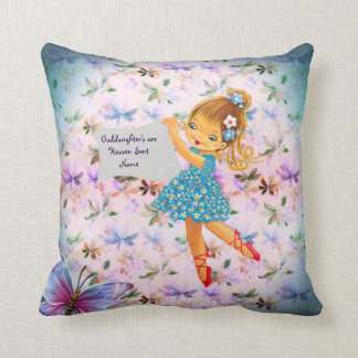 Beautiful Angel Goddaughter Gifts Personalized Throw Pillow
