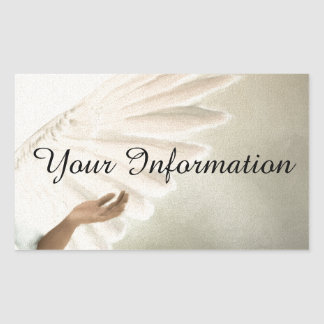 Beautiful Angel Wings Gift & Promotional Products Rectangular Sticker