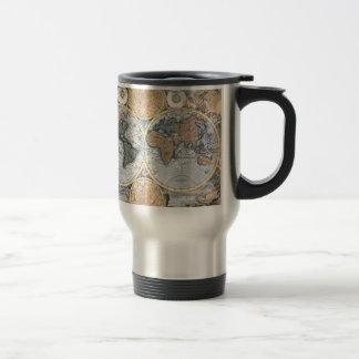 Beautiful Antique Atlas Map Stainless Steel Travel Mug