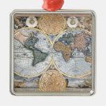 Beautiful Antique Atlas Map Ornaments