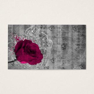 Beautiful antique hot pink rose paint splatter