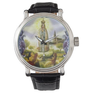 Beautiful Antique image of the apparition Our Lady Watch