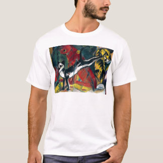 Beautiful antique oil painting three cats T-Shirt