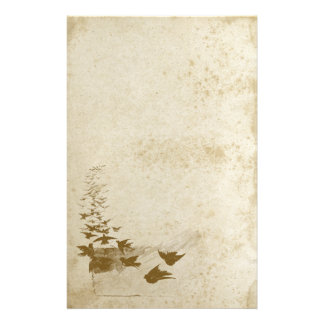 Beautiful Antique Stained Bird Stationery Paper