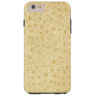Beautiful Antique Yellow Floral Pattern Print Tough iPhone 6 Plus Case