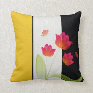Beautiful April  Tulip Cotton Throw Pillow