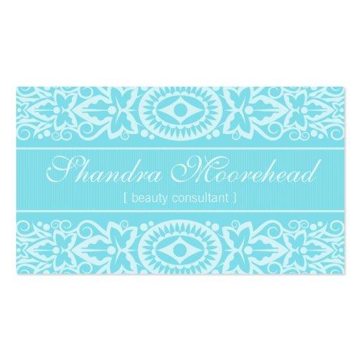 Beautiful Aqua Beauty Consultant Business Card