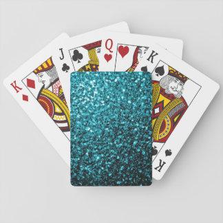 Beautiful Aqua blue glitter sparkles Playing Cards