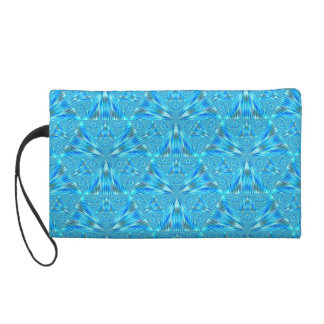 Beautiful Aqua Triangles Wristlet and Bags