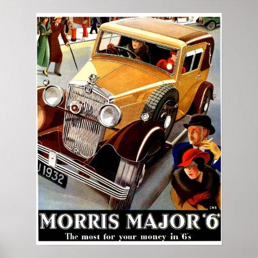 Beautiful art deco British vintage auto Poster