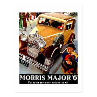 Beautiful art deco British vintage automobile Postcard