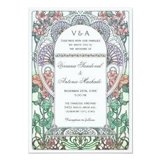 Beautiful Art Nouveau Wedding Invitations
