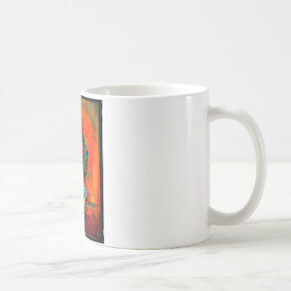 Beautiful artistic color abstract of flowers basic white mug