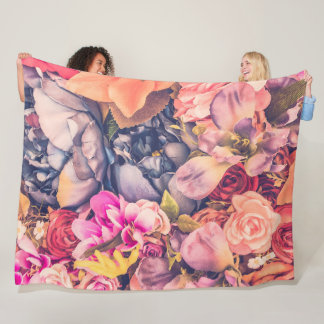 Beautiful Assorted Floral Fleece Blanket