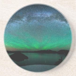 Beautiful Aurora Borealis / northern lights Drink Coasters