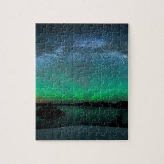 Beautiful Aurora Borealis / northern lights Jigsaw Puzzle