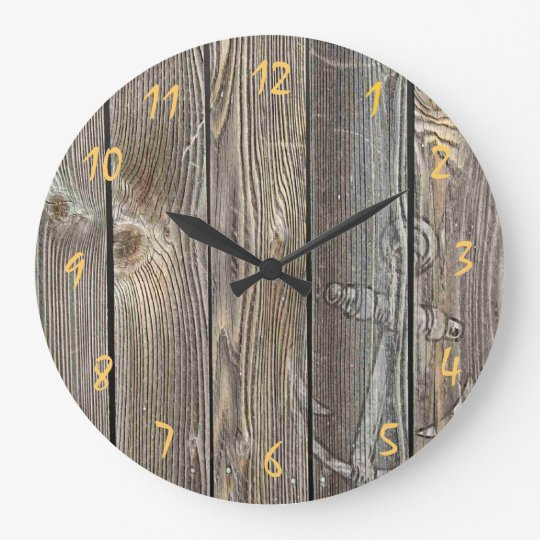 Beautiful authentic looking wood - Round Clock