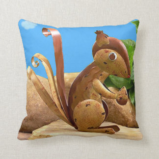 Beautiful Autumn Day With Squirrel. Cushion