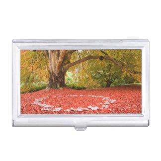 Beautiful Autumn Fall Nature Fairy Ring Business Card Holder