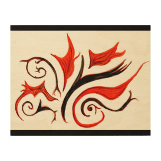 Beautiful autumn feel water colour wood wall art