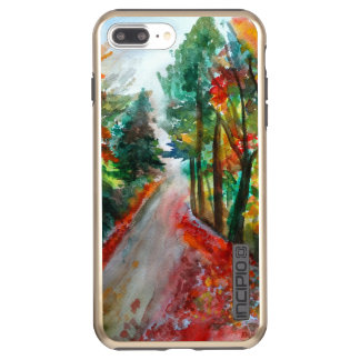 Beautiful Autumn Landscape  Watercolor Incipio DualPro Shine iPhone 8 Plus/7 Plus Case