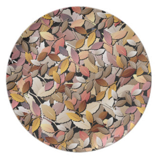 Beautiful Autumn Leaves Plate