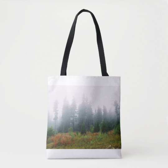 Beautiful Autumn Morning Forrest Photo Tote Bag