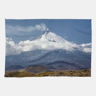 Beautiful autumn mountain landscape tea towel