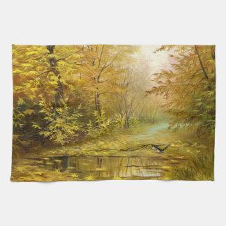 Beautiful Autumn Painting Kitchen Towel