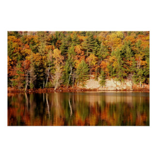 Beautiful autumn scenery poster
