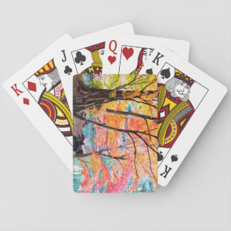 Beautiful Autumn Trees Playing Cards