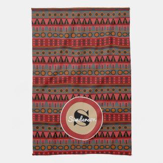 Beautiful Aztec w/Monogram Tea Towel