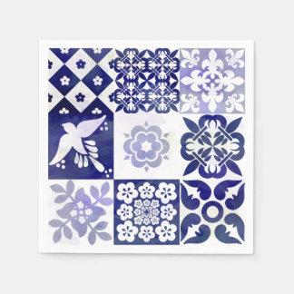 Beautiful Azulejos Napkin Disposable Serviette
