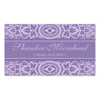 Beautiful Azure Beauty Consultant Business Card